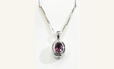 OVAL NECKLACE  with birthstone